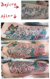 arm tattoo coverup