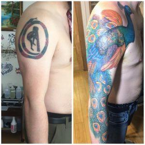 shoulder tattoo coverup